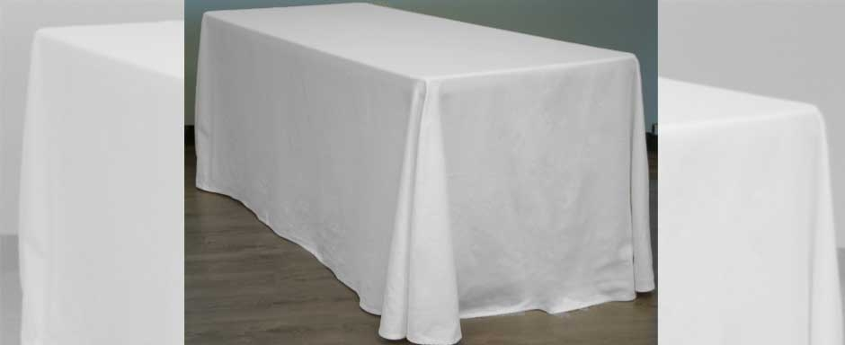MANTEL RECTANGULAR BLANCO